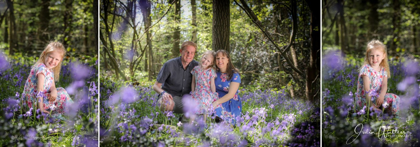 family bluebell portrait photography