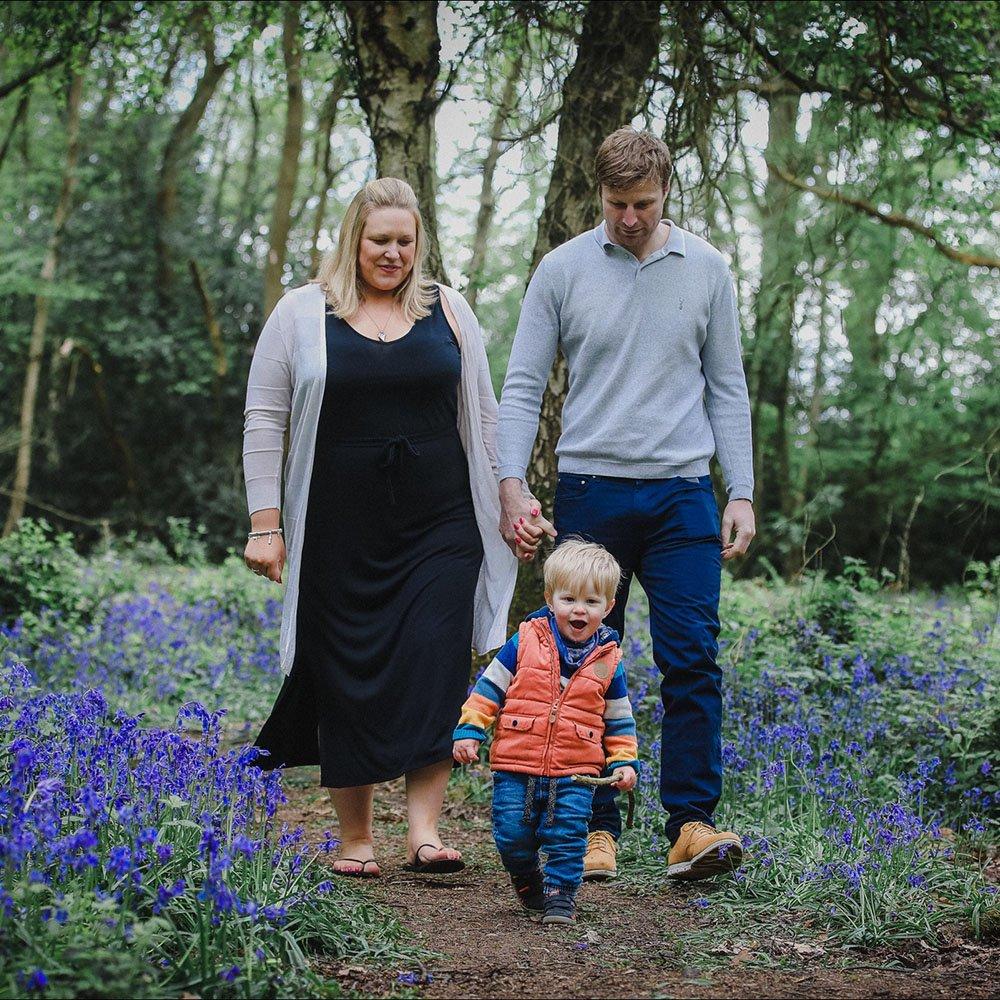 bluebell family portrait photography hertfordshire
