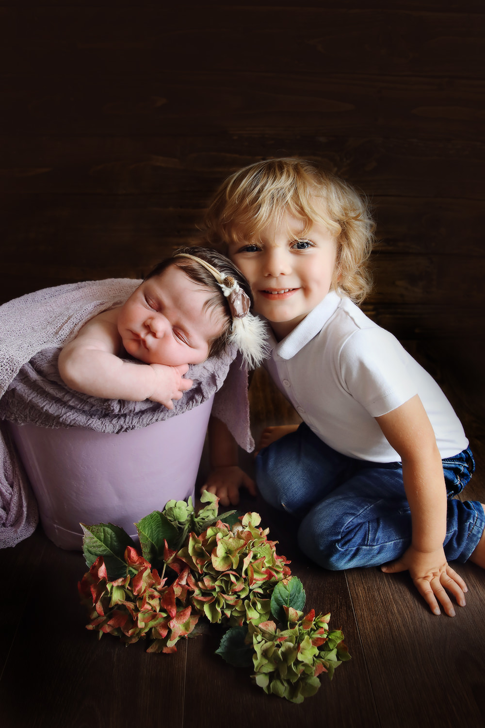 Newborn and brother photography